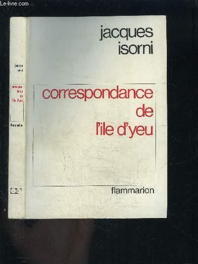 CORRESPONDANCE DE L ILE D YEU