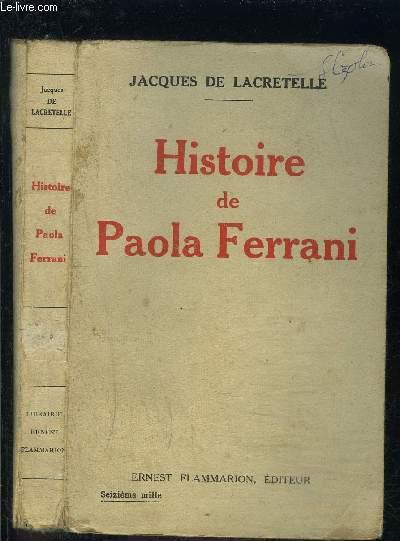 HISTOIRE DE PAOLA FERRANI