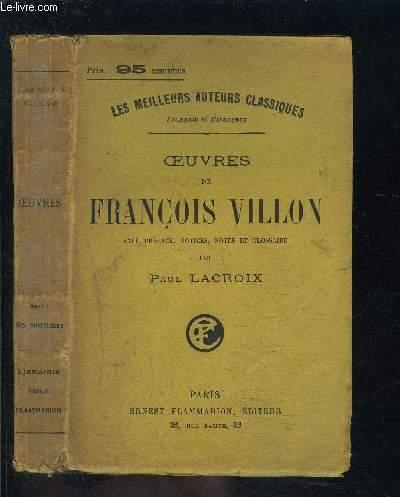OEUVRES DE FRANCOIS VILLON