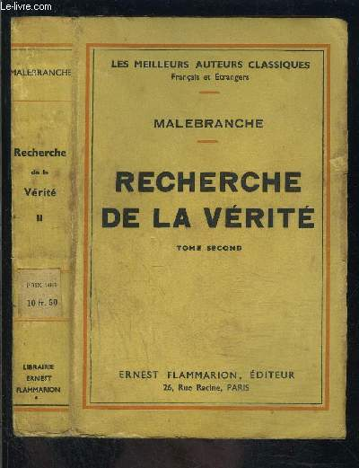 RECHERCHE DE VERITE- TOME 2 VENDU SEUL