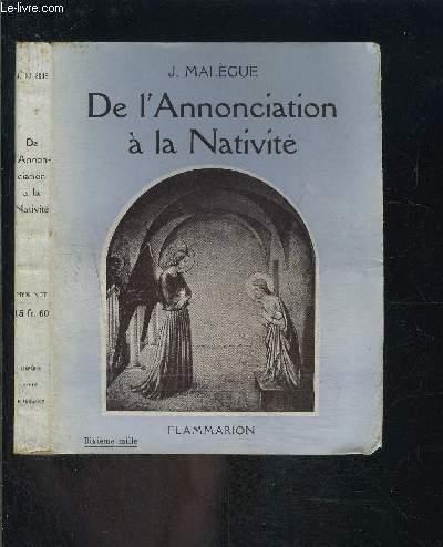 DE L ANNONCIATION A LA NATIVITE