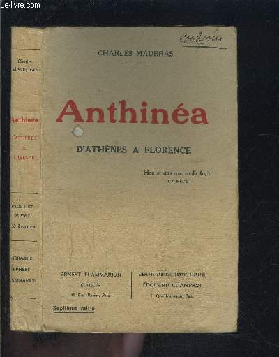 ANTHINEA- D ATHENES A FLORENCE