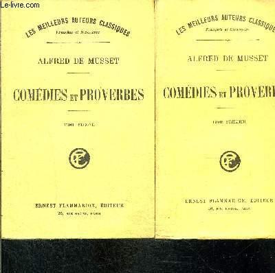 COMEDIES ET PROVERBES- 2 TOMES EN 2 VOLUMES
