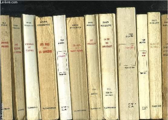 1 LOT DE 16 LIVRES: LES AMBASSADES- LA FIN DES AMBASSADES- LES AMERICAINS- NOTRE AMOUR- LA NATURE DU PRINCE- LA MORT D UNE MERE- LES JUIFS- CHEVALIERS DE MALTE- DES FRANCAIS- MANOUCHE- JEUNES PROIES- DU VESUVE A L ETNA- L EXILE DE CAPRI- LES FILS DE LA ..