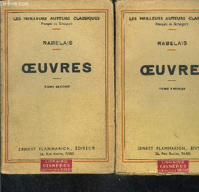 OEUVRES- 2 TOMES EN 2 VOLUMES