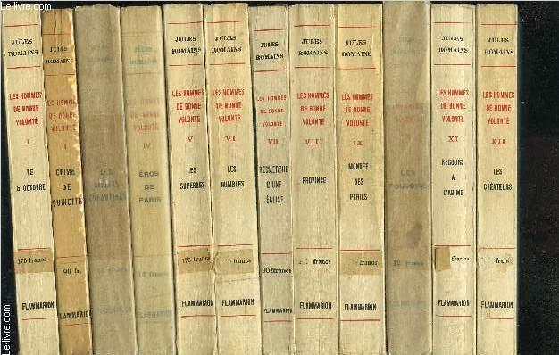 LES HOMMES DE BONNE VOLONTE- 27 TOMES EN 27 VOLUMES- COMPLET- 1. LE 6 OCTOBRE- 2. CRIME DE QUINETTE- 3. LES AMOURS ENFANTINES- 4. EROS DE PARIS- 5. LES SUPERBES- 6. LES HIMBLES- 7. RECHERCHE D UNE EGLISE- 8. PROVINCE- 9. MONTEE DES PERILS- 10. LES ...