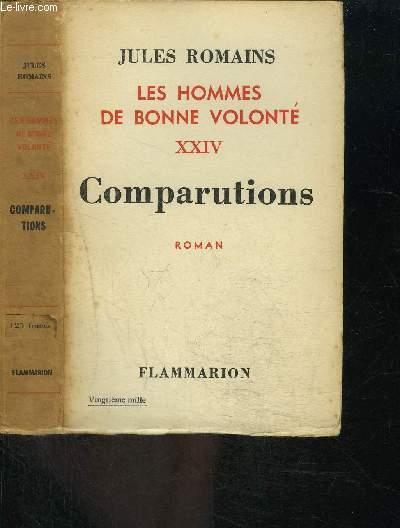 LES HOMMES DE BONNE VOLONTE- TOME 24- VENDU SEUL- COMPARUTIONS