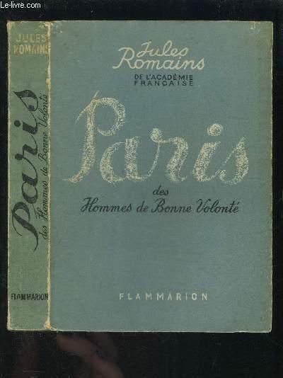 PARIS DES HOMMES DE BONNE VOLONTE