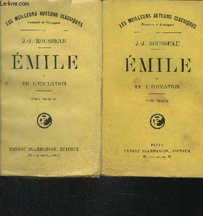 EMILE OU DE L EDUCATION- 2 TOMES EN 2 VOLUMES