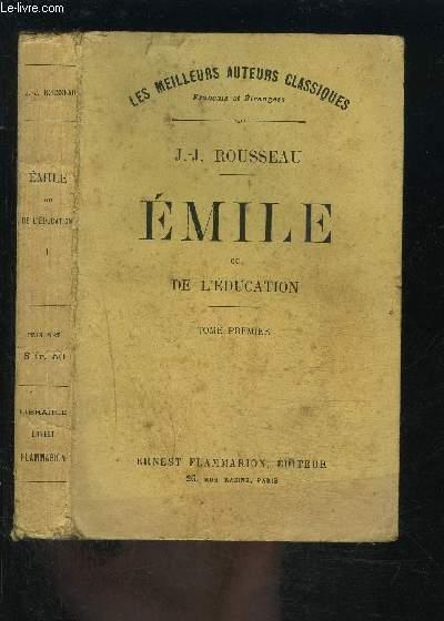 EMILE OU DE L EDUCATION- TOME 1 vendu seul