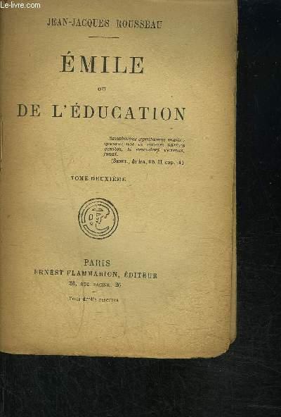EMILE OU DE L EDUCATION- TOME 2 VENDU SEUL