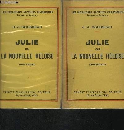 JULIE OU LA NOUVELLE HELOISE- 2 TOMES EN 2 VOLUMES