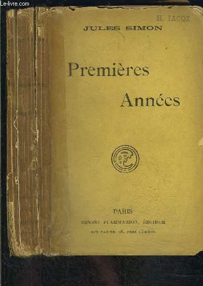 PREMIERES ANNEES