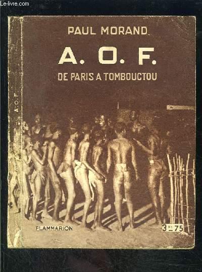 A.O.F. DE PARIS A TOMBOUCTOU
