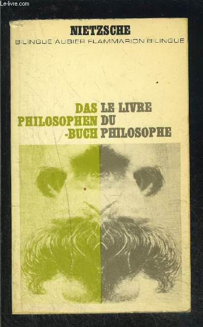 LE LIVRE DU PHILOSOPHE- COLLECTION BILINGUE AUBIER N°29