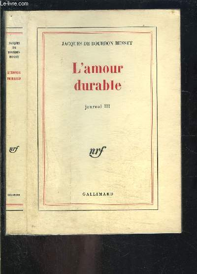 L AMOUR DURABLE- JOURNAL III