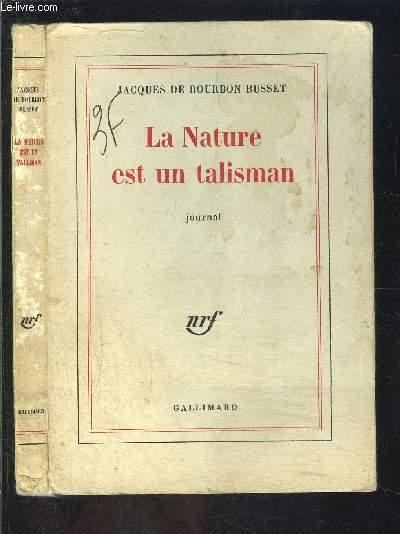 LA NATURE EST UN TALISMAN- JOURNAL
