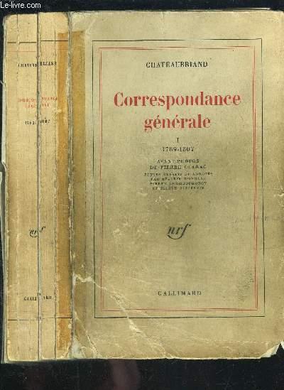 CORRESPONDANCE GENERALE TOME I vendu seul- 1789-1807