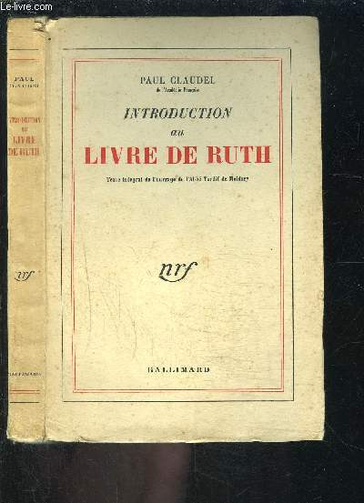 INTRODUCTION AU LIVRE DE RUTH