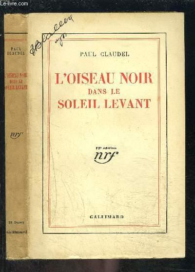 L OISEAU NOIR DANS LE SOLEIL LEVANT