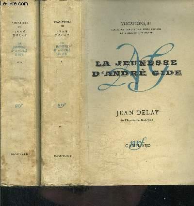LA JEUNESSE D ANDRE GIDE- 2 TOMES EN 2 VOLUMES