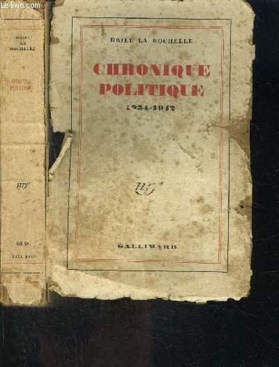 CHRONIQUE POLITIQUE- 1934-1942
