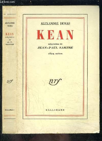 KEAN- adaptation de Jean- Paul Sartre- Cinq actes
