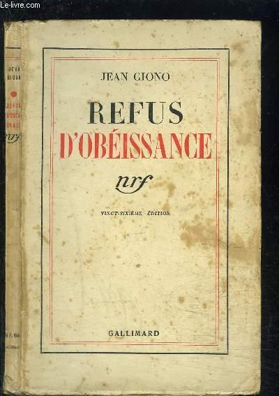 REFUS D OBEISSANCE
