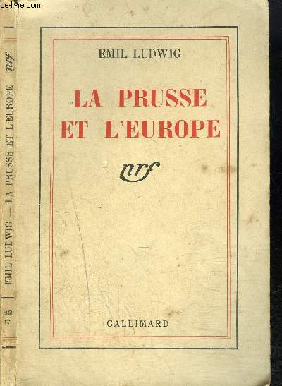 LA PRUSSE ET L'EUROPE