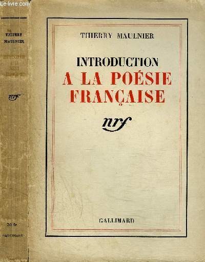 INTRODUCTION A LA POESIE FRANCAISE