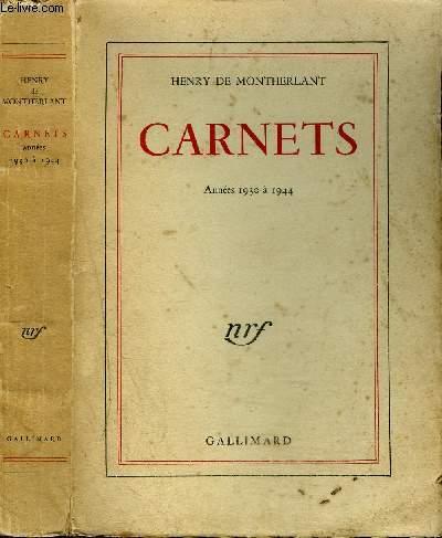 CARNETS ANNEES 1930 A 1944
