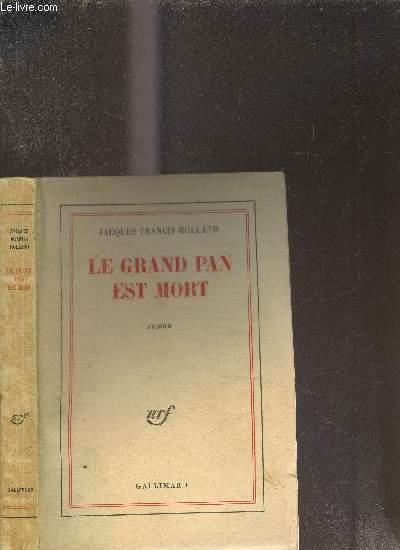 LE GRAND PAN EST MORT