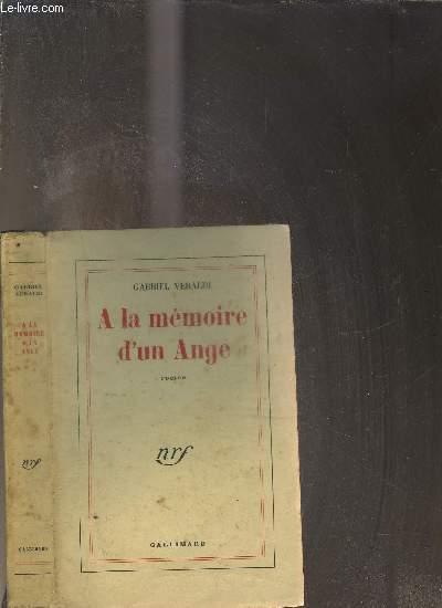 A LA MEMOIRE D UN ANGE