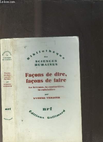 FACON DE DIRE, FACON DE FAIRE