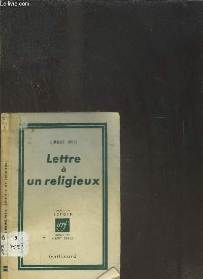 LETTRE A UN RELIGIEUX