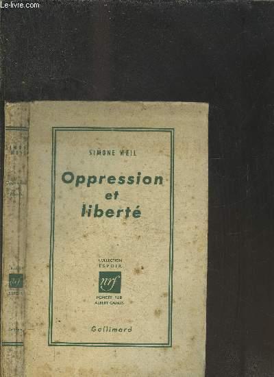 OPPRESSION ET LIBERTE
