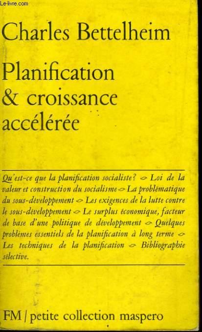 PLANIFICATION ET CROISSANCE ACCELEREE