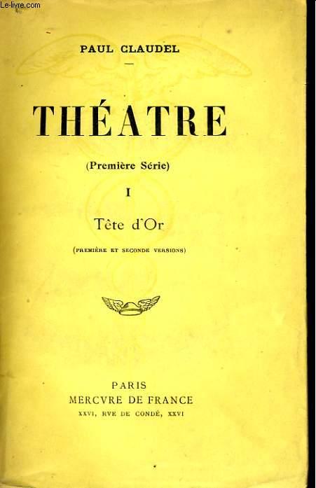 THEATRE, PREMIERE SERIE, TOMES 1, 2, 3 et 4