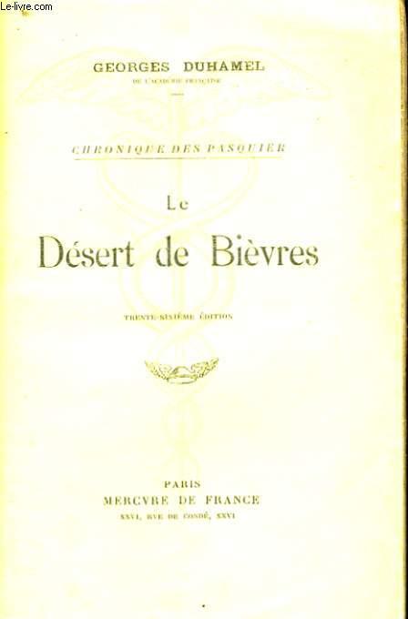 LE DESERT DE BIEVRES
