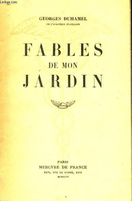 FABLES DE MON JARDIN