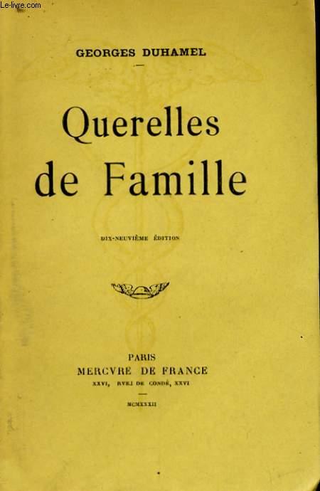 QUERELLES DE FAMILLE