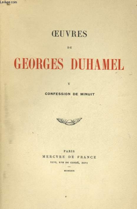 OEUVRES, TOME 5: CONFESSION DE MINUIT