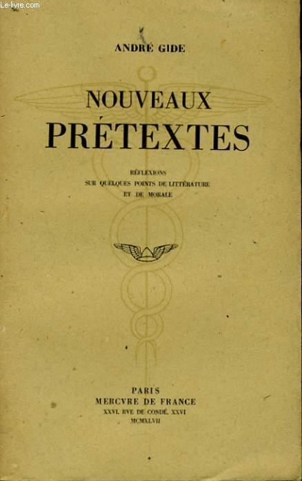NOUVEAUX PRETEXTES