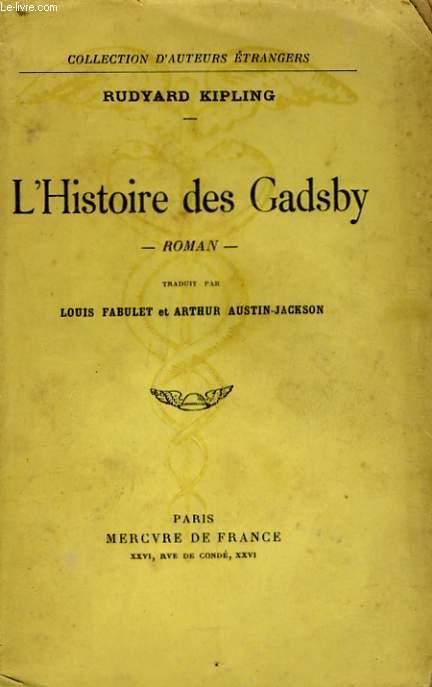 L'HISTOIRE DES GADSBY, CONTE SANS INTRIGUE