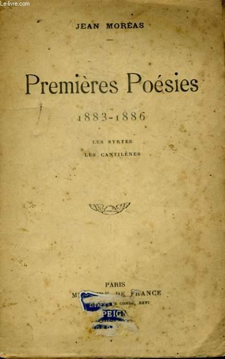 PREMIERES POESIES, 1883-1886, LES SYRTES, LES CANTILENES