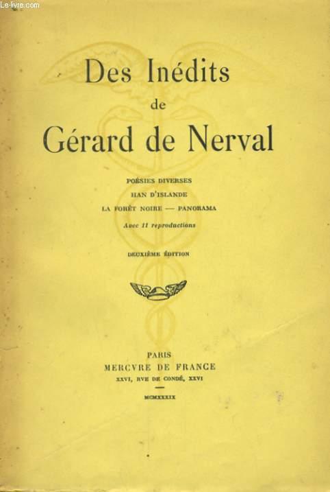 DES INEDITS DE GERARD DE NERVAL