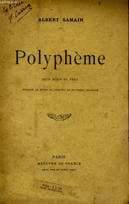 POLYPHEME, DEUX ACTES EN VERS