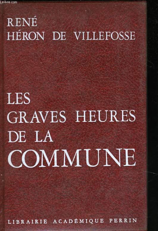LES GRAVES HEURES DE LA COMMUNE