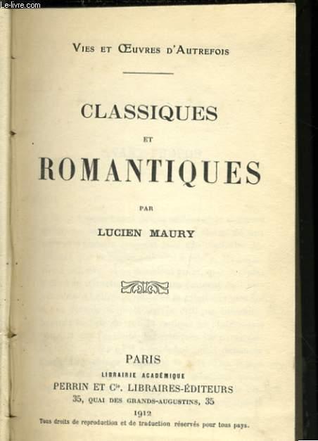 CLASSIQUES ET ROMANTIQUES