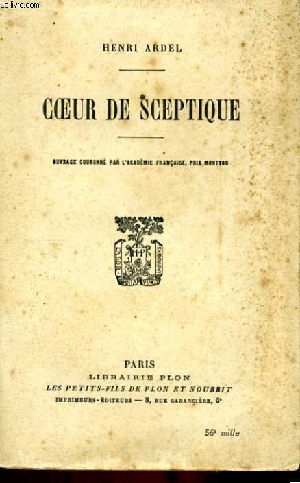 COEUR DE SCEPTIQUE